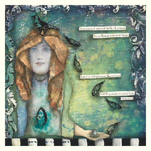 mixed media journal page by pam carriker