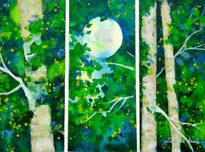 How to paint birch trees