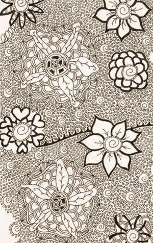 Doodle art by Cherie Haas | ClothPaperScissors.com