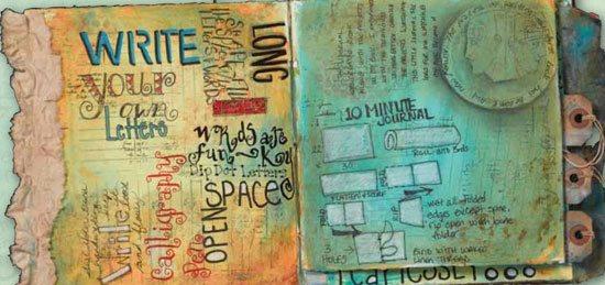 Pam Carriker Art Journal Prompts | ClothPaperScissors.com