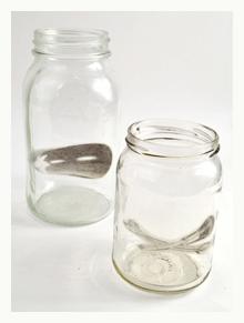 rub-onz image transfers on mason jars