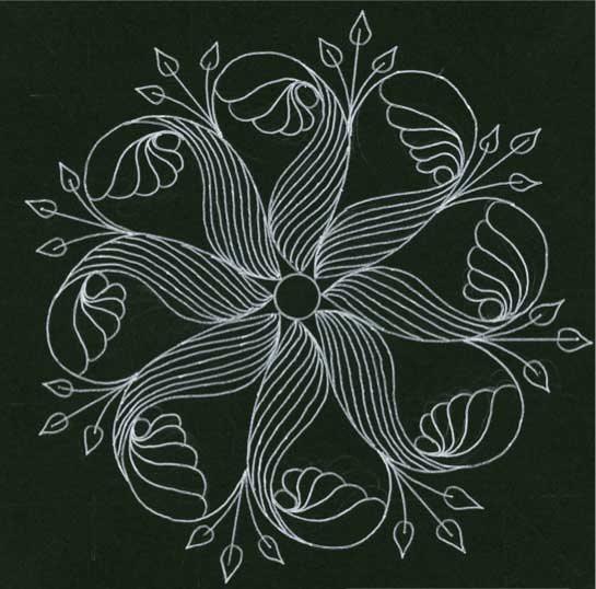 Mandala design by Deborah Pace | ClothPaperScissors.com