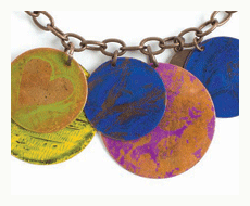 mixed media necklace by jenn mason