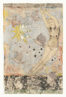 kiki smith mixed media art sky