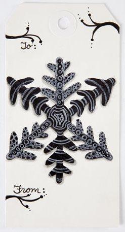 Doodled snowflake pattern
