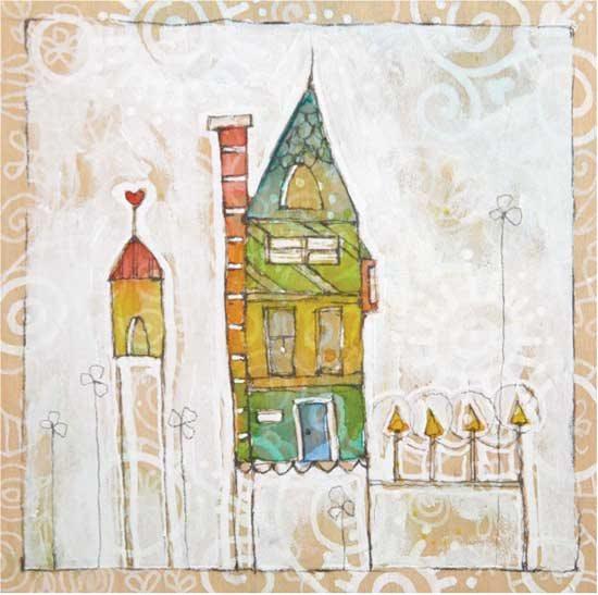 Mixed-media art ideas | Danielle Donaldson, ClothPaperScissors.com