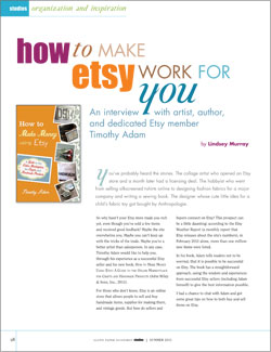 Having an Etsy Business Article: How to Make Etsy Work for You