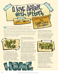 Hand Lettering Tutorial: A Love Affair with Letters: Part Two