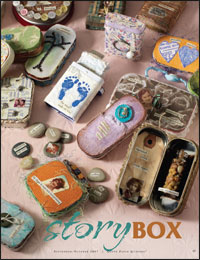 Create box assemblage art to tell your own story through assemblages.
