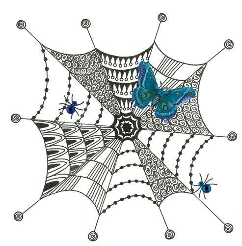 Zentangle ideas | Trish Reinhart, ClothPaperScissors.com