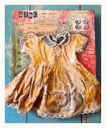 three dimensional collage art by sue pelletier