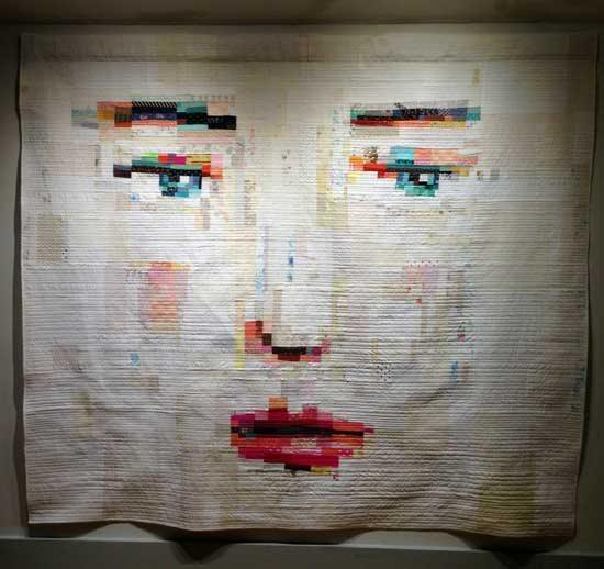 Fabric art quilt by Melissa Averinos | ClothPaperScissors.com