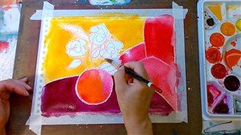 Mixed-media art lessons | ClothPaperScissors.com