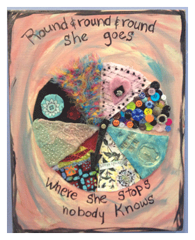 mixed-media collage by cate prato