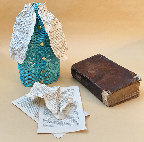 Skirt from book pages