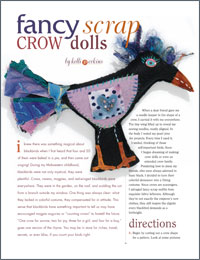 Softie Tutorial: Fancy Scrap Crows