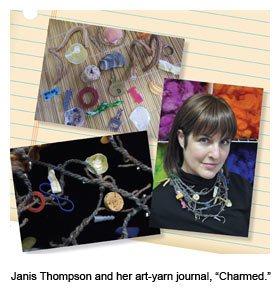 fiber arts journal necklace