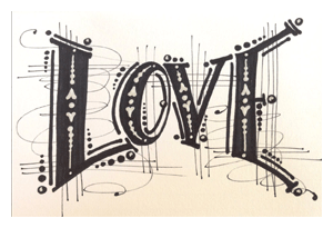 lettering for collage by kari mcknight holbrook