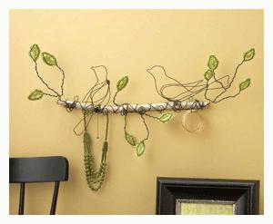 two birds on a branch wire assemblage jennifer swift