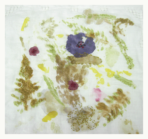 nature art printing with plant matter