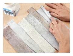 Making backgrounds for collage gluing strips | ClothPaperScissors.com