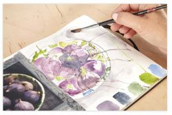 Art journaling exercises with watercolor for beginners | ClothPaperScissors.com