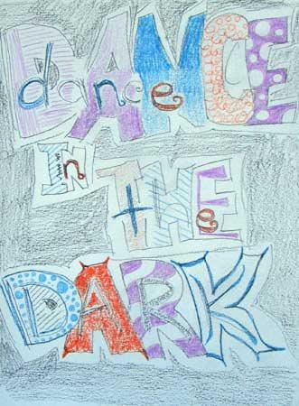 Art journal, lettering ideas | Cherie Haas, ClothPaperScissors.com