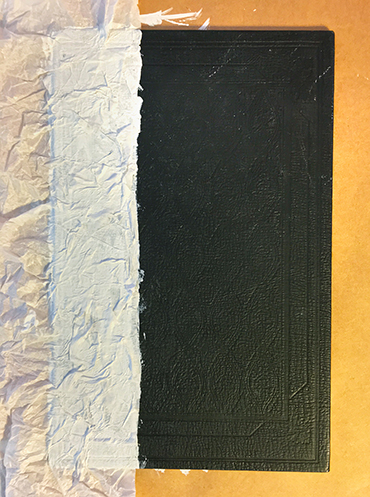 Gesso and tissue paper