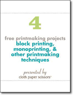 4 Free Printmaking Projects including Block Printing and Monoprinting