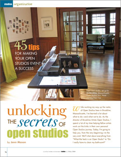 Open Studios Events Article: 45 Tips for Making Your Open Studios Event a Success
