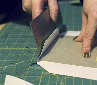 Hand turning in action!