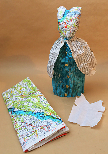Blouse made from a map