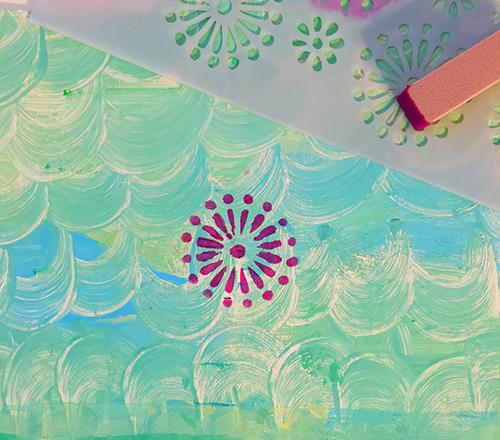 Mandala stencil motif