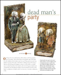 Celebrate the Day of the Dead with collage assemblage art.