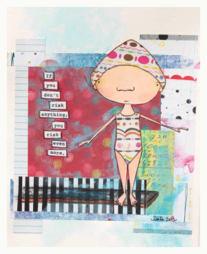 how to alter scrapbook papers for paper collages art by linda peterson