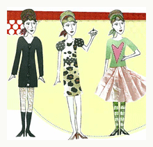 paper collage paper dolls