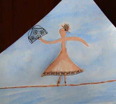 Watercolor art journal page | Cherie Haas, ClothPaperScissors.com