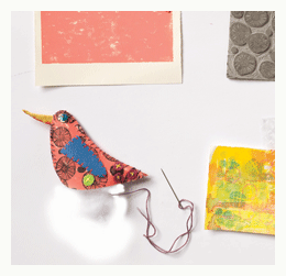 felt and paper bird ornament how to