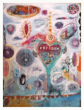 mixed media painting by christina minasian