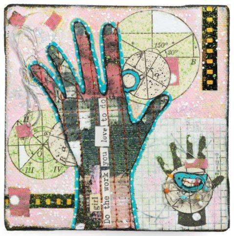 Mixed-media artist Jenny Cochran Lee, at ClothPaperScissors.com