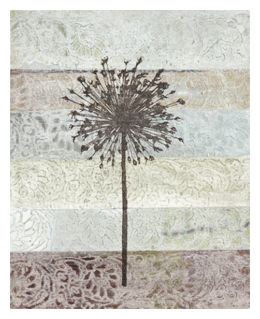 Mixed media collage with stencils by Mary Beth Shaw