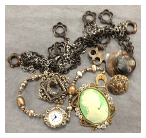 learn how to make steampunk jewelry cloth paper scissors