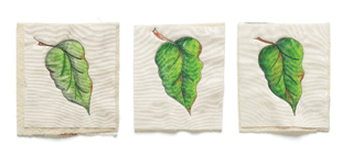 leaf painting on fabric with inktense pencils   ClothPaperScissors.com