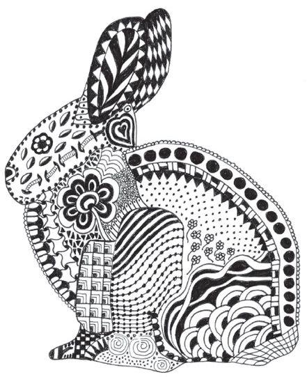 Zen doodle coloring page by Barbara Simon Sartain | ClothPaperScissors.com