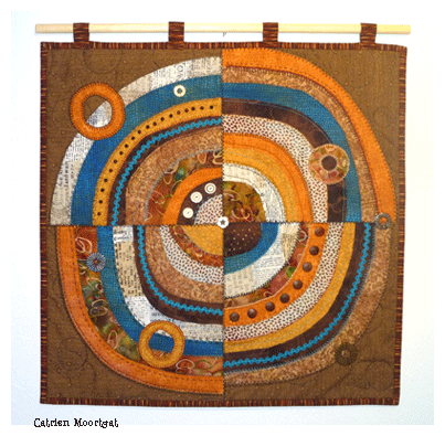 recycled circles fabric collage catrien moortgat