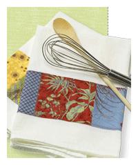 patchwork kitchen towel