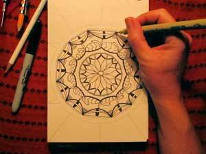 Mandala designs for beginners (art by Cherie Haas) | ClothPaperScissors.com