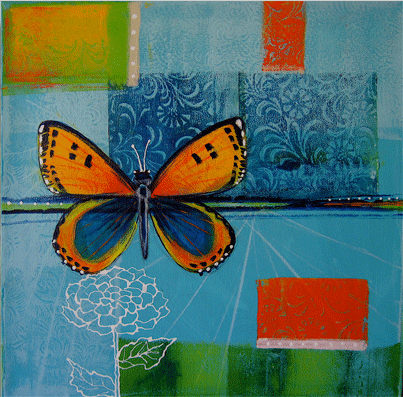monoprinting techniques solstice butterfly