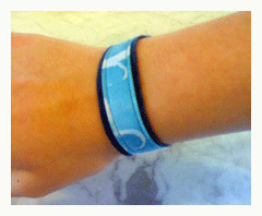 fabric bracelet with surface design