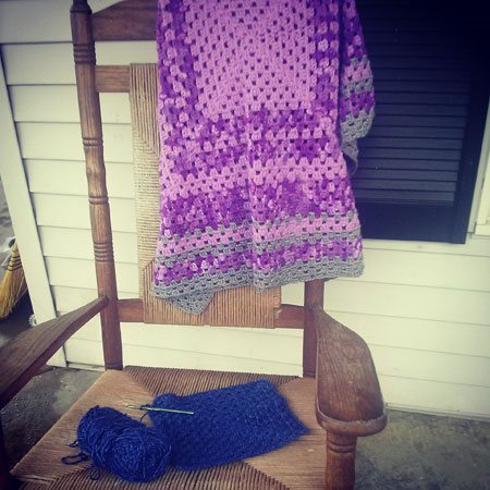 DIY Holiday gifts, Crocheted afghan with granny squares